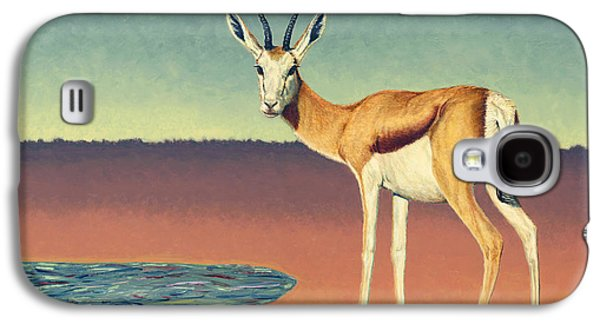 Evening Paintings Galaxy S4 Cases - Mirage Galaxy S4 Case by James W Johnson
