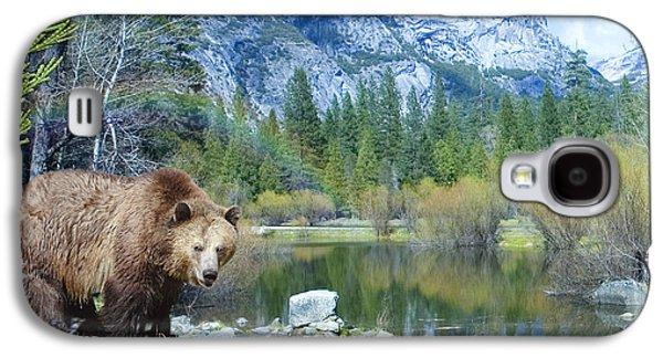 Alixandra Mullins Galaxy S4 Cases - Mirror Lake Bear Galaxy S4 Case by Alixandra Mullins