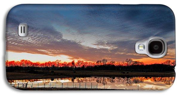 Tn Barn Galaxy S4 Cases - Mirrored Sunset  Galaxy S4 Case by Brett Engle