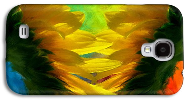 Nature Abstracts Galaxy S4 Cases - Mirrorring Suns Galaxy S4 Case by Lourry Legarde