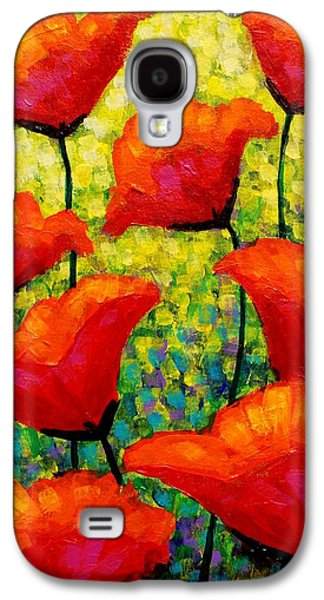 Landscape Greeting Cards Galaxy S4 Cases - Mischas Poppies Galaxy S4 Case by John  Nolan