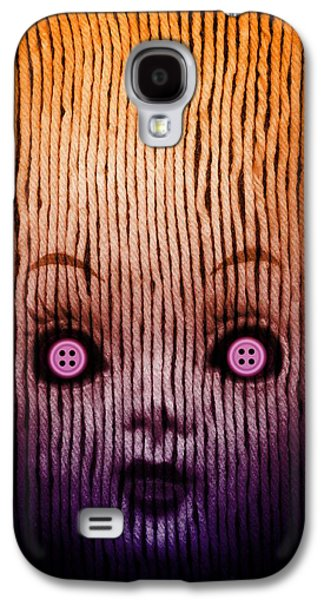 Miss Button Galaxy S4 Case by Johan Lilja