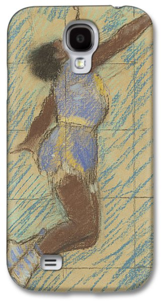 Fine Art Pastels Galaxy S4 Cases - Miss Lala at the Fernando Circus Galaxy S4 Case by Edgar Degas