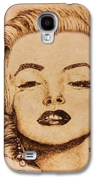 Celebrities Pyrography Galaxy S4 Cases - Missed Marilyn Galaxy S4 Case by Dale Bradley