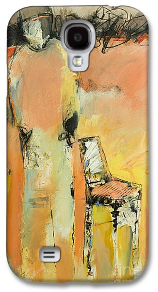 Empty Chairs Paintings Galaxy S4 Cases - Missing and Empty Galaxy S4 Case by Beau Wild