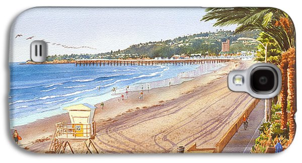Scene Galaxy S4 Cases - Mission Beach San Diego Galaxy S4 Case by Mary Helmreich