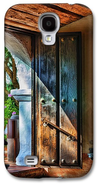 Religious Galaxy S4 Cases - Mission Door Galaxy S4 Case by Joan Carroll