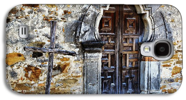 Wooden Sculpture Galaxy S4 Cases - Mission Espada Entrance Galaxy S4 Case by Stephen Stookey