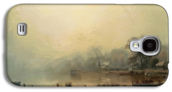 The Houses Mixed Media Galaxy S4 Cases - Mist In The Morning Galaxy S4 Case by Georgiana Romanovna