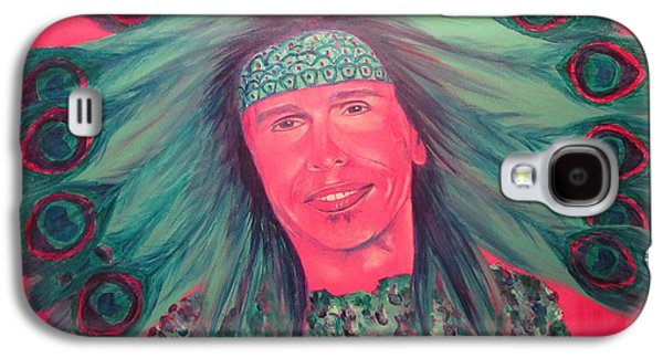 Steven Tyler Paintings Galaxy S4 Cases - Mister Peacock Galaxy S4 Case by Jeepee Aero