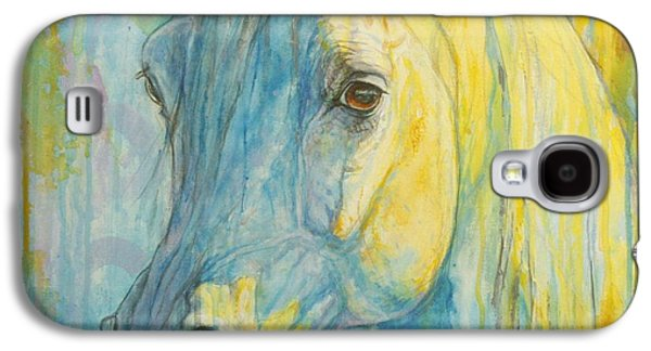 Picture Paintings Galaxy S4 Cases - Misterious Blues Galaxy S4 Case by Silvana Gabudean