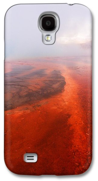 Abstract Nature Galaxy S4 Cases - Mists in the firehole Galaxy S4 Case by Jeff  Swan