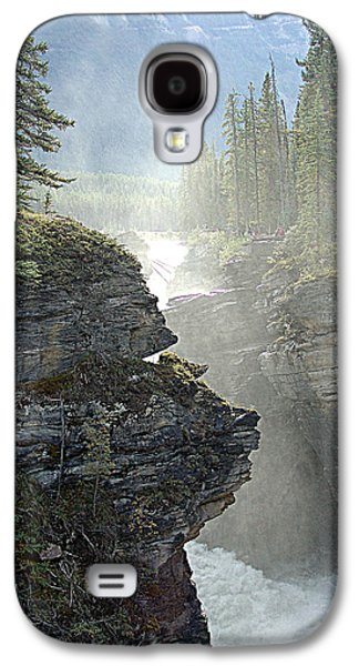 Canoe Mixed Media Galaxy S4 Cases - Mists Galaxy S4 Case by Janet Ashworth