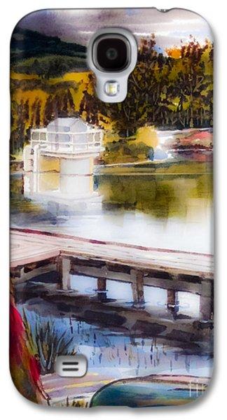 Canoe Mixed Media Galaxy S4 Cases - Misty Dream Galaxy S4 Case by Kip DeVore