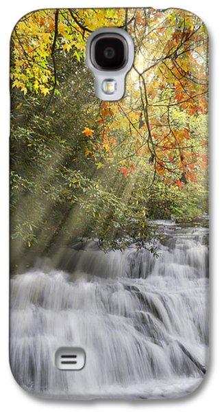Tn Barn Galaxy S4 Cases - Misty Falls at Coker Creek Galaxy S4 Case by Debra and Dave Vanderlaan