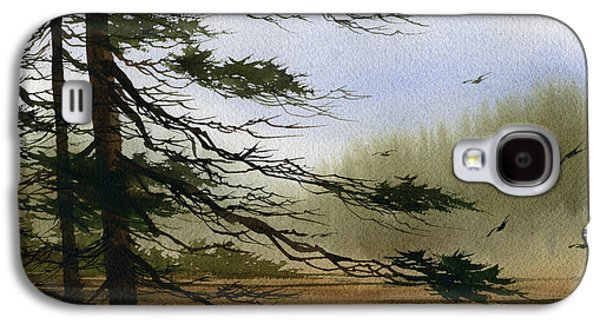Misty Prints Galaxy S4 Cases - Misty Forest Bay Galaxy S4 Case by James Williamson