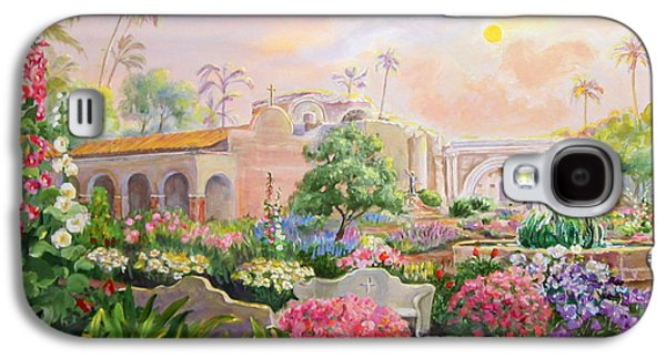 Great Place To Fish Galaxy S4 Cases - Misty Morning at Mission San Juan Capistrano  Galaxy S4 Case by Jan Mecklenburg