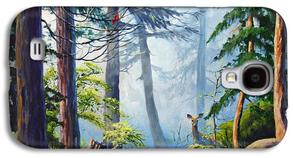 Smokey Mountains Paintings Galaxy S4 Cases - Misty Morning Galaxy S4 Case by CB Hume