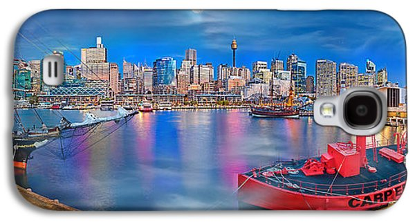 Tall Ship Galaxy S4 Cases - Misty Morning Harbour Galaxy S4 Case by Az Jackson