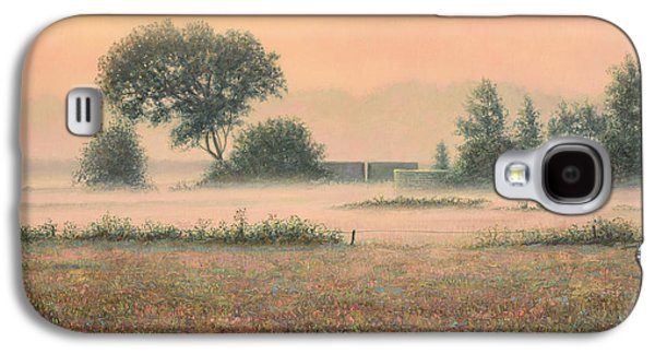 Salmon Paintings Galaxy S4 Cases - Misty Morning Galaxy S4 Case by James W Johnson