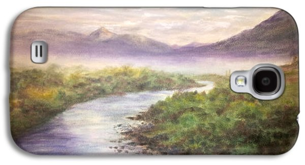 Fog Mist Pastels Galaxy S4 Cases - Misty Morning on the Slate River Galaxy S4 Case by Becky Chappell
