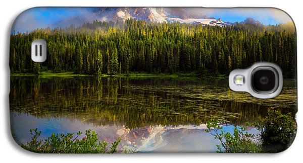 Landscapes Photographs Galaxy S4 Cases - Misty Reflection Galaxy S4 Case by Inge Johnsson