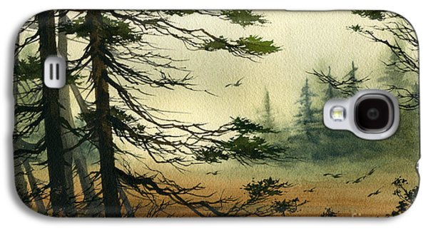 Misty Prints Galaxy S4 Cases - Misty Tideland Forest Galaxy S4 Case by James Williamson