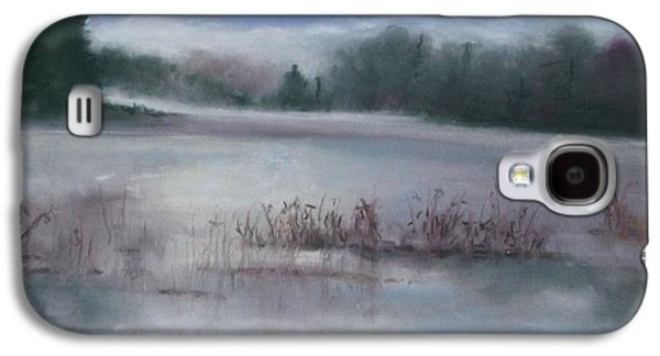 Fog Mist Pastels Galaxy S4 Cases - Misty Waters Galaxy S4 Case by Linda Dessaint