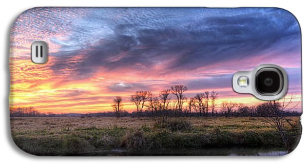 Sun Galaxy S4 Cases - Mitchell Park Sunset Panorama Galaxy S4 Case by Scott Norris