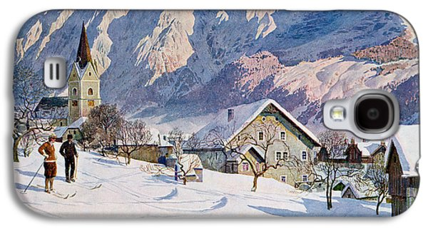 Snow Scenes Galaxy S4 Cases - Mitterndorf in Austria Galaxy S4 Case by Gustave Jahn