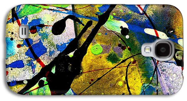 Abstract Landscape Galaxy S4 Cases - Mixed Media 105 Galaxy S4 Case by John  Nolan