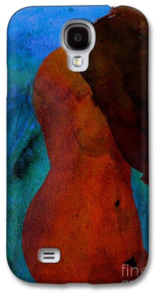 Chromatic Galaxy S4 Cases - Mixed Media Figure Galaxy S4 Case by David Gordon