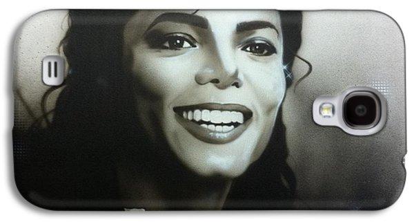 Michael Jackson Paintings Galaxy S4 Cases - m.j. Galaxy S4 Case by Christian Chapman Art
