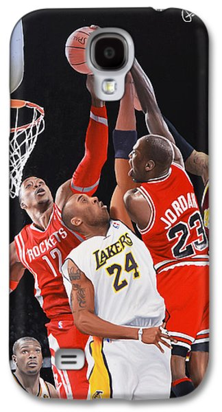 Michael Jordan Paintings Galaxy S4 Cases - MJ Monster Dunk Galaxy S4 Case by Peter Perlegas