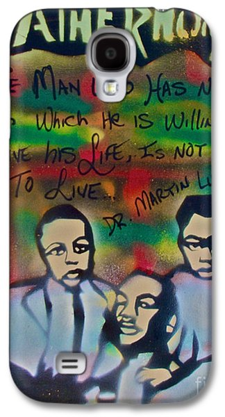 Mlk Fatherhood 1  Galaxy S4 Case by Tony B Conscious