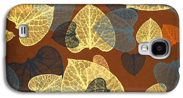 Rollosphotos Digital Art Galaxy S4 Cases - Mocha Square Leaf Abstract Galaxy S4 Case by Christina Rollo