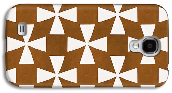 Patterned Galaxy S4 Cases - Mocha Twirl Galaxy S4 Case by Linda Woods