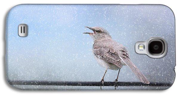 Mockingbird In The Snow Galaxy S4 Case by Jai Johnson