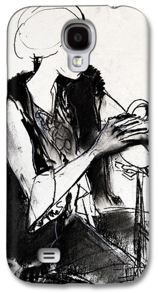 Chair Drawings Galaxy S4 Cases - Model #1 - figure series Galaxy S4 Case by Mona Edulesco