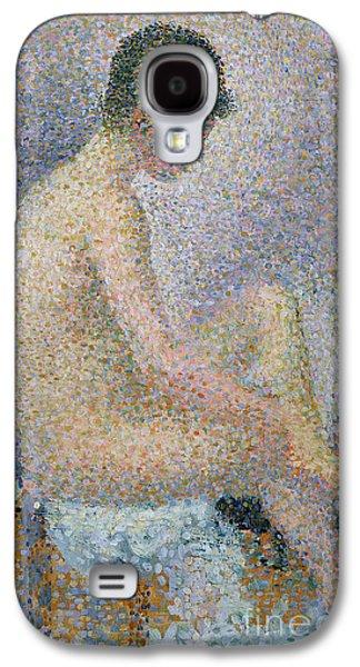 Model In Profile Galaxy S4 Case by Georges Pierre Seurat