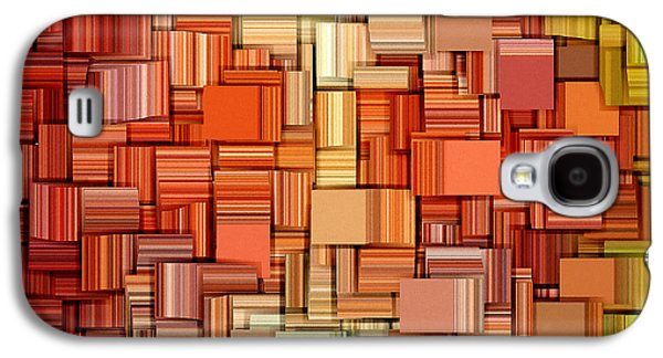 Tangerines Galaxy S4 Cases - Modern Abstract VIII Galaxy S4 Case by Lourry Legarde