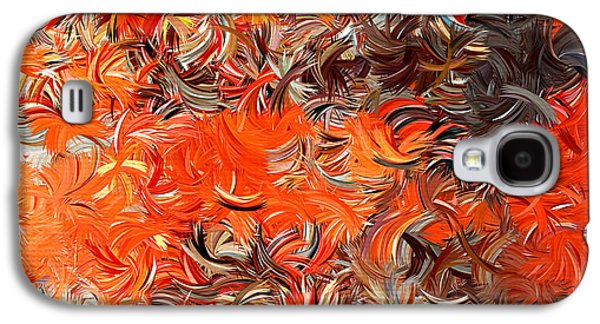 Tangerines Galaxy S4 Cases - Modern Abstract XXX Galaxy S4 Case by Lourry Legarde