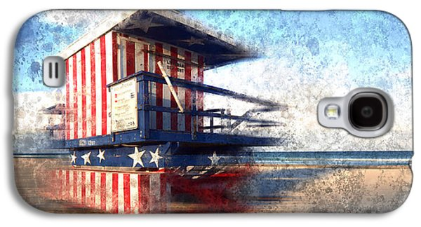 Shore Digital Art Galaxy S4 Cases - Modern-Art MIAMI BEACH Watchtower Galaxy S4 Case by Melanie Viola