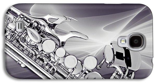 Soprano Galaxy S4 Cases - Modern Soprano Saxophone Photograph in Sepia 3344.01 Galaxy S4 Case by M K  Miller