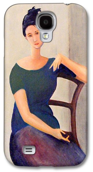 Chair Jewelry Galaxy S4 Cases - Modigliani woman Galaxy S4 Case by Barbara Jacquin
