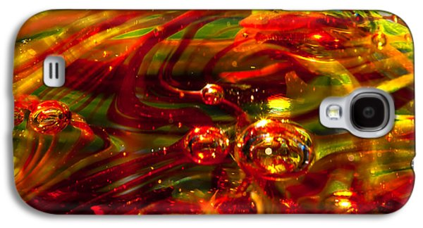 Glass Reflections Galaxy S4 Cases - Molten Bubbles Galaxy S4 Case by David Patterson