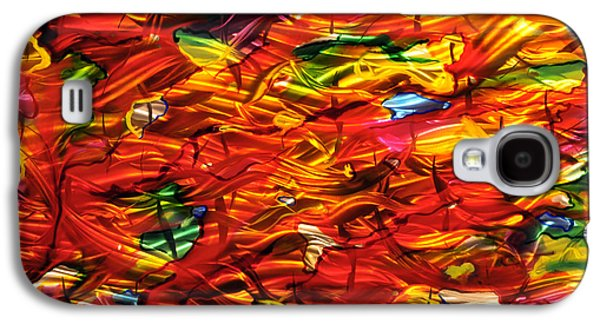 Blue Abstracts Sculptures Galaxy S4 Cases - Mommy It Melted Galaxy S4 Case by Rick Roth