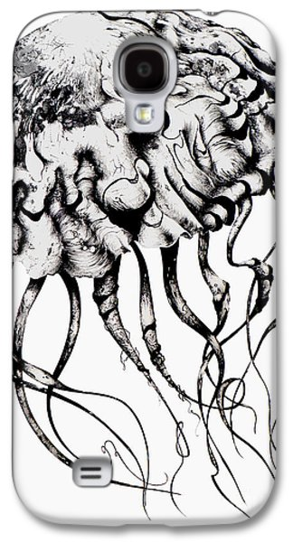 Aquatic Drawings Galaxy S4 Cases - Mommy Jellyfish Galaxy S4 Case by Penelope Fedor