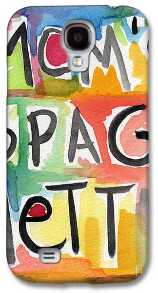 Pop Mixed Media Galaxy S4 Cases - Moms Spaghetti Galaxy S4 Case by Linda Woods