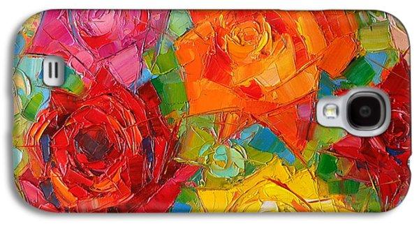 Mon Amour La Rose Galaxy S4 Case by Mona Edulesco